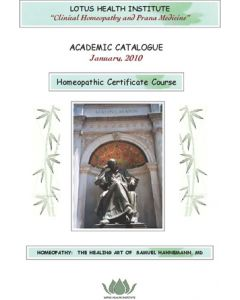 Homeopathic Certificate Course Registration