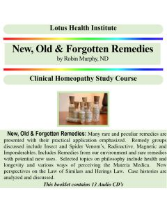 New, Old and Forgotten Remedies (A & B)